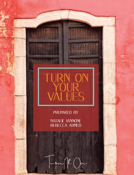 turn on your values workbook